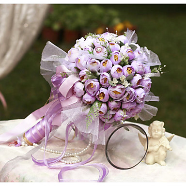 Bouquets de Noiva Buquês Casamento Organza Cetim 12.2