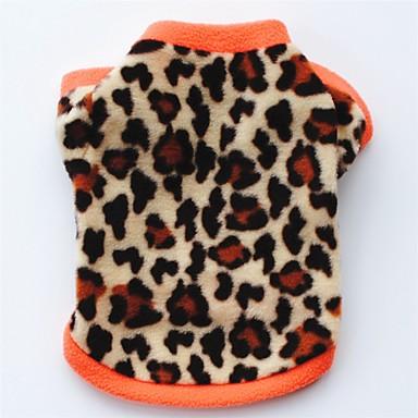 Avere Una Mente Inquisitrice Gatto Cane Cappottini T-shirt Felpa Abbigliamento Per Cani Leopardata Nero Leopardo Pile Costume Per Primavera & Autunno Inverno Per Donna Da Serata Casual Tenere Al Caldo #06009644 Per Produrre Un Effetto Verso Una Visione Chi