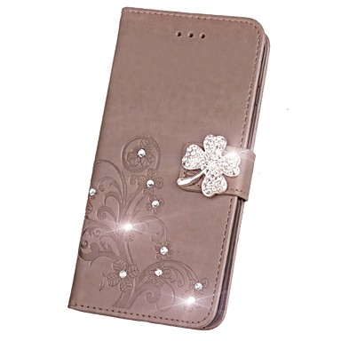Case For Sony Xperia Z5 / Sony Xperia Z4 / Sony Xperia Z3 Wallet / Card Holder / Rhinestone Full Body Cases Solid Colored Hard PU Leather for Sony Xperia Z2 / Sony Xperia Z3 / Sony Xperia Z3 Compact