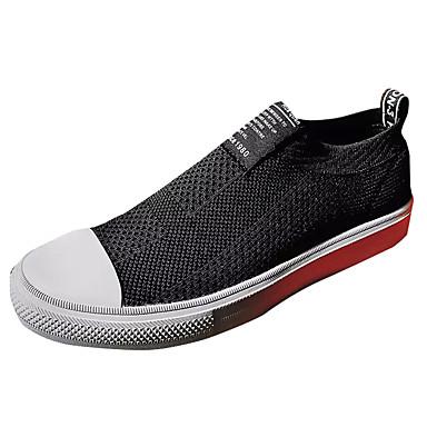 Miesten kengät Tyll Kevät Syksy Comfort Lenkkitossut Solmittavat varten Kausaliteetti Musta Punainen