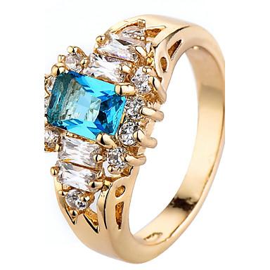 Women's Ring Settings Band Rings Ring Cubic Zirconia Rhinestone Personalized Luxury Geometric Unique Design Classic Rhinestone Bohemian