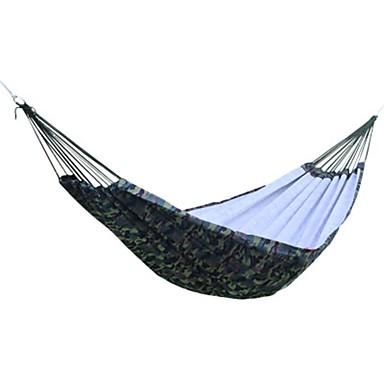 Campinghängematte Außen Tragbar, Leicht, Lässig / Alltäglich Segeltuch, Nylon, Baumwolle für Camping / Camping / Wandern / Erkundungen / Draußen - 2 Personen Armeegrün