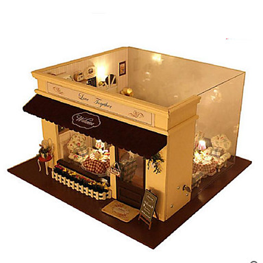 CUTE ROOM Wood Model Model Building Kit DIY House Wood Pieces Unisex Gift