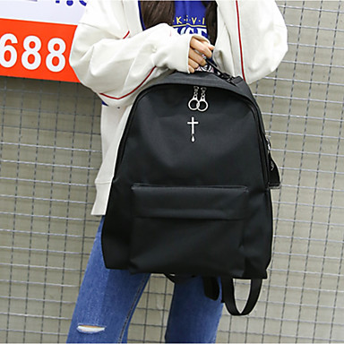 Women's Bags Canvas Backpack for Casual All Seasons Black