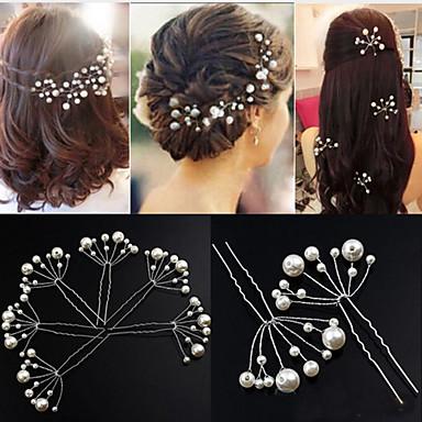abordables Coiffes-Imitation de perle Coiffure / Outil de cheveux / Épingle à cheveux avec Fleur 1pc Mariage / Occasion spéciale / Anniversaire Casque