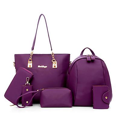 Women's Bags Oxford Cloth Bag Set 6 Pieces Purse Set for Casual All Seasons Blue Black Beige Purple Fuchsia