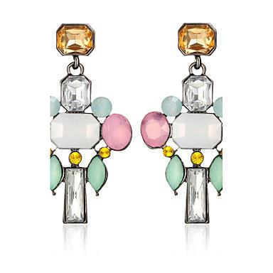 Women's Bohemian Leaf Crystal Crystal Drop Earrings - Personalized Geometric Circular Dangling Style Classic Vintage Bohemian Circle