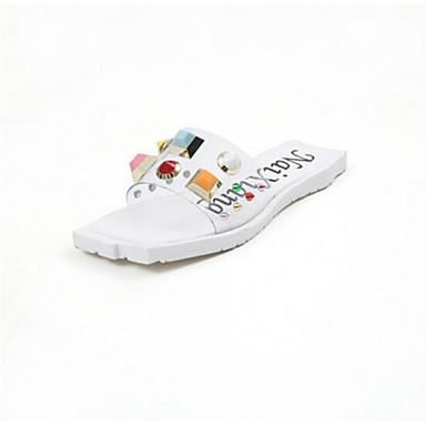Naiset Tossut & varvastossut Comfort Kesä PVC Kausaliteetti Valkoinen Sininen Pinkki Tasapohja