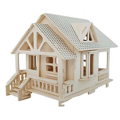 3D Puzzles Jigsaw Puzzle Wood Model Model Building Kit Famous buildings Furniture House Architecture 3D Simulation DIY Wood Classic Unisex