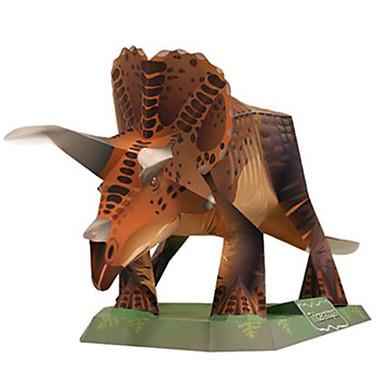 Quebra-Cabeças 3D Maquetes de Papel Brinquedos de Montar Quadrada Dinossauro Faça Você Mesmo Cartão de Papel Duro Clássico Para Meninos