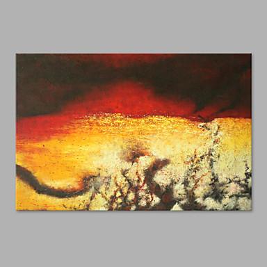 Pintados à mão Abstrato Horizontal, Inspirado da Natureza Tela de pintura Pintura a Óleo Decoração para casa 1 Painel