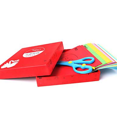 Artesanato de Papel Caixa de Presente Corte de papel Quadrada Á Mão Faça Você Mesmo Clássico Crianças