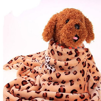 Koira Sängyt Lemmikit Huovat Leopardi Lämmin Kannettava Kaksipuolinen Pehmeä Leopardi