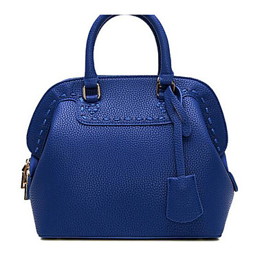 Women Bags All Seasons PU Shoulder Bag for Casual Outdoor Blue Black Gray