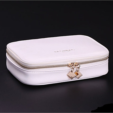 Women's Bags PU Cosmetic Bag for Casual All Seasons White Black
