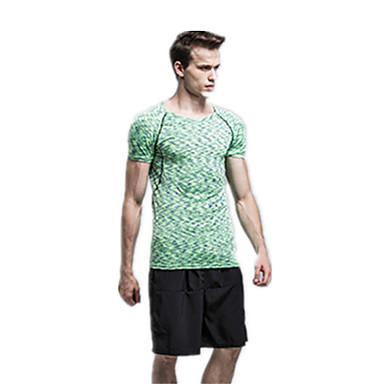 Men's Running T-Shirt Running Shorts Short Sleeves Quick Dry Breathable Compression Clothing Jersey + Bib Shorts for Running/Jogging