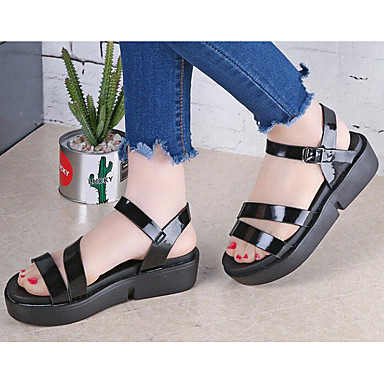 Women's Shoes PU Summer Comfort Sandals For Casual Gold Black Silver