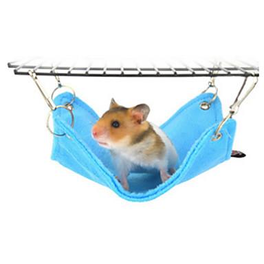 Hamster Plysj Senger Blå Rosa