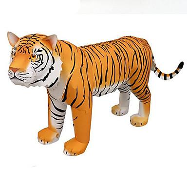 voordelige 3D-puzzels-3D-puzzels Bouwplaat Tiger Dieren DHZ Hard Kaart Paper Kinderen Unisex Speeltjes Geschenk