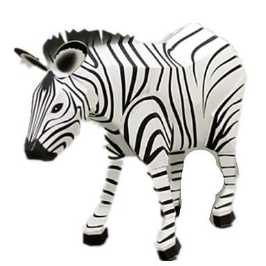 Quebra-Cabeças 3D Maquetes de Papel Brinquedos de Montar Artesanato de Papel Quadrada Cavalo Zebra 3D Animais Faça Você Mesmo Simulação