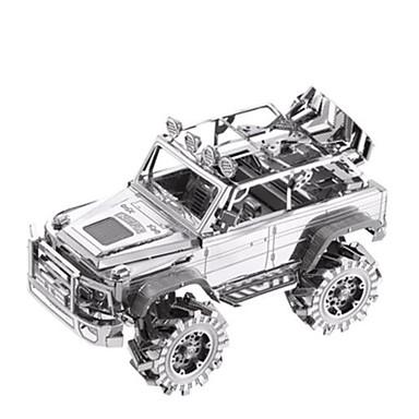 voordelige 3D-puzzels-PIECECOOL Speelgoedauto's 3D-puzzels Legpuzzel Vrachtwagen DHZ Metallic Aluminium Klassiek SUV Kinderen Unisex Jongens Speeltjes Geschenk