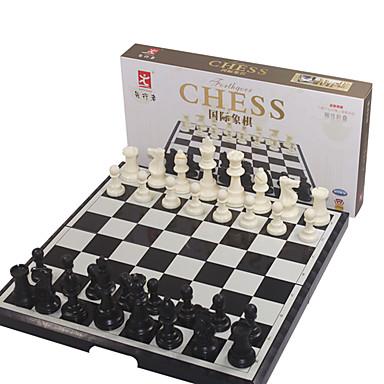 Jogos de Tabuleiro Jogo de Xadrez Xadrez Brinquedos Dobrável Magnética Tamanho Grande Quadrada Plásticos Peças Unisexo Natal Dom