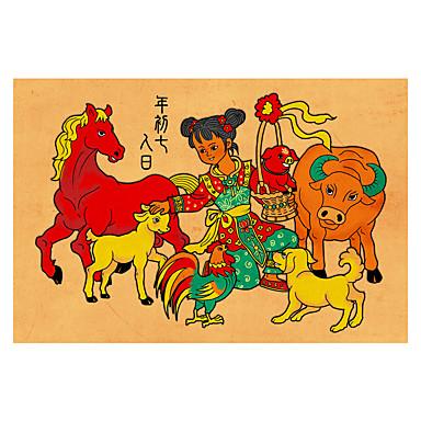 Quebra-Cabeça Quadrada Inovador De madeira Madeira Anime Desenho Unisexo Dom