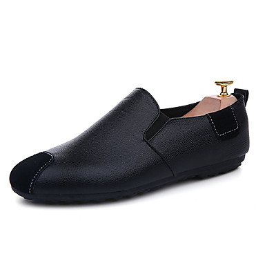Men's Shoes Synthetic Microfiber PU Nappa Leather Spring Fall Light Soles Loafers & Slip-Ons for Casual Outdoor White Black Green