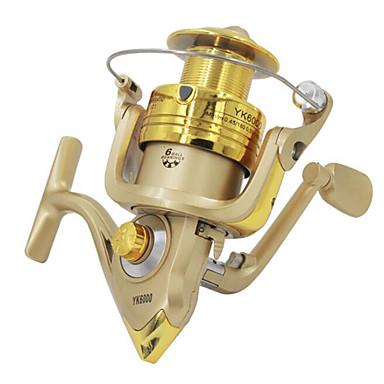 Fishing Reel Bearing Spinne-hjul 5.2:1 6 Kulelager Byttbar Ferskvannsfiskere Lokke Fiske Generelt fisking Trolling- & Båtfiskeri-DC4000