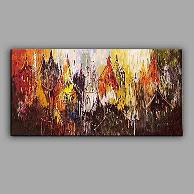 Pintura a Óleo Pintados à mão - Paisagem Abstracto Tela de pintura