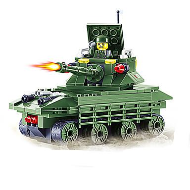 JIE STAR Carros de Brinquedo Blocos de Construir Veiculo de Construção Quadrada Tanque Para Meninos Unisexo Dom
