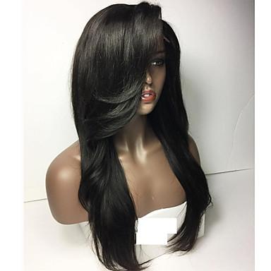 Emberi haj Tüll homlokrész / Csipke eleje Paróka Egyenes Paróka 150% Természetes hajszálvonal Női Rövid / Közepes / Hosszú Emberi hajból készült parókák