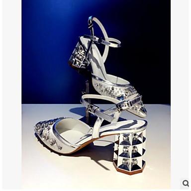 Dame Sko PU Sommer Komfort Sandaler Til Avslappet Sølv