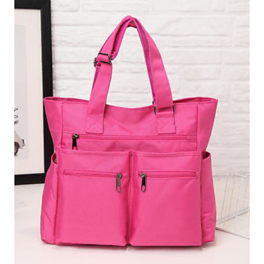 Women Bags All Seasons Polyester Tote for Casual Outdoor Black Purple Fuchsia