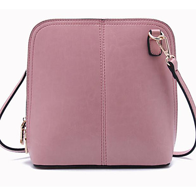 Women Shoulder Bag Cowhide All Seasons Casual Outdoor Rectangle Zipper Black Blushing Pink Yellow