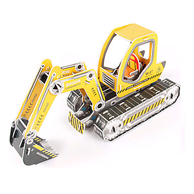 3D Puzzles Jigsaw Puzzle Model Building Kit Excavating Machinery 3D DIY High Quality Paper Classic Excavator Kid's Girls' Boys' Unisex