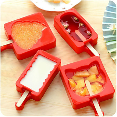 DIY Silicone Ice Cream Mold Popsicle Maker Holder with Popsicle Sticks