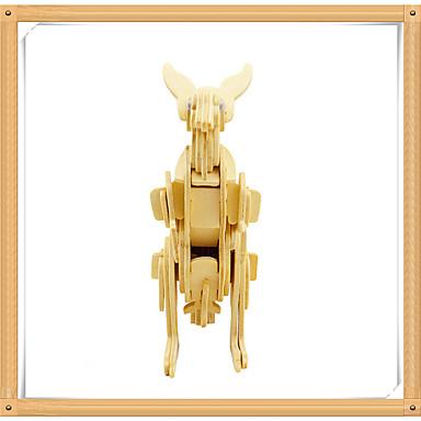 3D-puslespill Puslespill Tremodeller Modellsett Kenguru Dyr 3D Dyr GDS Tre Barne Unisex Gave