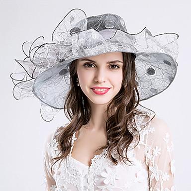 Women's Grace Silk / Organza Headpiece-Wedding / Special Occasion / Party / Casual / Outdoor Fascinators Hats 1 Piece Hair Accessories