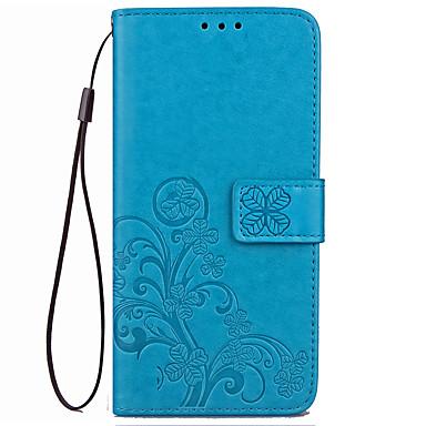 Capinha Para Xiaomi Carteira / Porta-Cartão / Com Suporte Capa Proteção Completa Sólido Rígida PU Leather para Xiaomi Redmi 4X