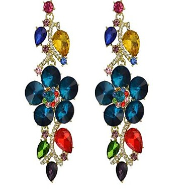 Women's Rhinestone Luxury Sexy Fashion Alloy Flower Leaf Jewelry For Stage Going out Date Holiday