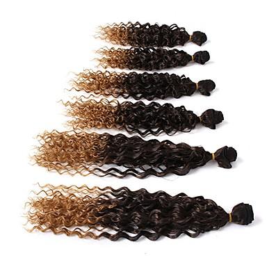 Curly Jerry Curl 100% kanekalon hair Human Hair Extensions Hair Accessory Curly Braids Hair Braids Daily