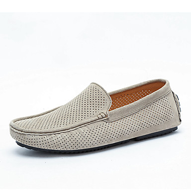 Unisex Moccasin Suede Summer / Fall Loafers & / Slip-Ons Gray / Brown / & Khaki / Party & Evening 7d3bd7