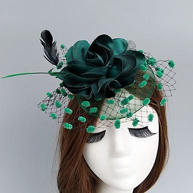 Rede Fascinadores / Chapéus / Decoração de Cabelo com Floral 1pç Casamento / Ocasião Especial Capacete