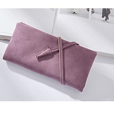 Women Coin Purse PU All Seasons Square Clasp Lock Black Blushing Pink Purple