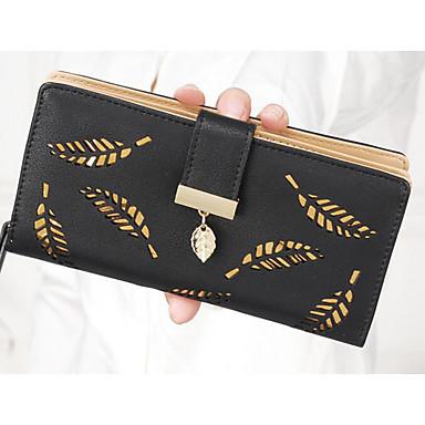 Women's Bags Polyester / PU Coin Purse Zipper Blue / Black / Blushing Pink