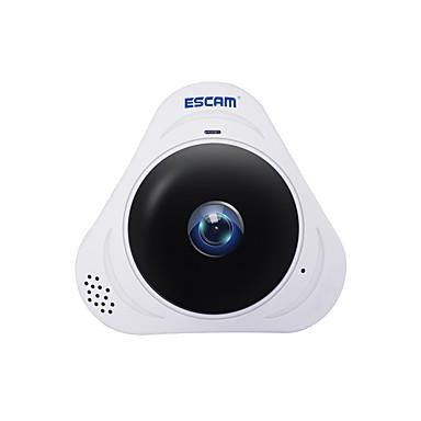 escam® q8 960p 1,3mp 360 fokos panoráma monitor fisheye wifi ir infravörös IP kamera 128gb tf kártyával