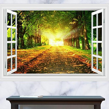 Paisaje pegatinas de pared calcoman as 3d para pared for Pegatinas decorativas pared