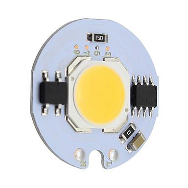 9W Round COB Led Chip Smart IC AC 220V for DIY Ceiling Light Downlight Spotlight  Warm/Cold White (1 Piece)