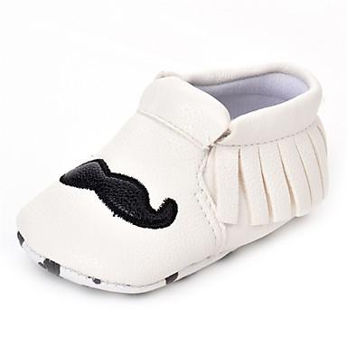 Bebê sapatos Courino Primavera Outono Conforto Rasos Elástico para Casamento Casual Ao ar livre Festas & Noite Branco Preto